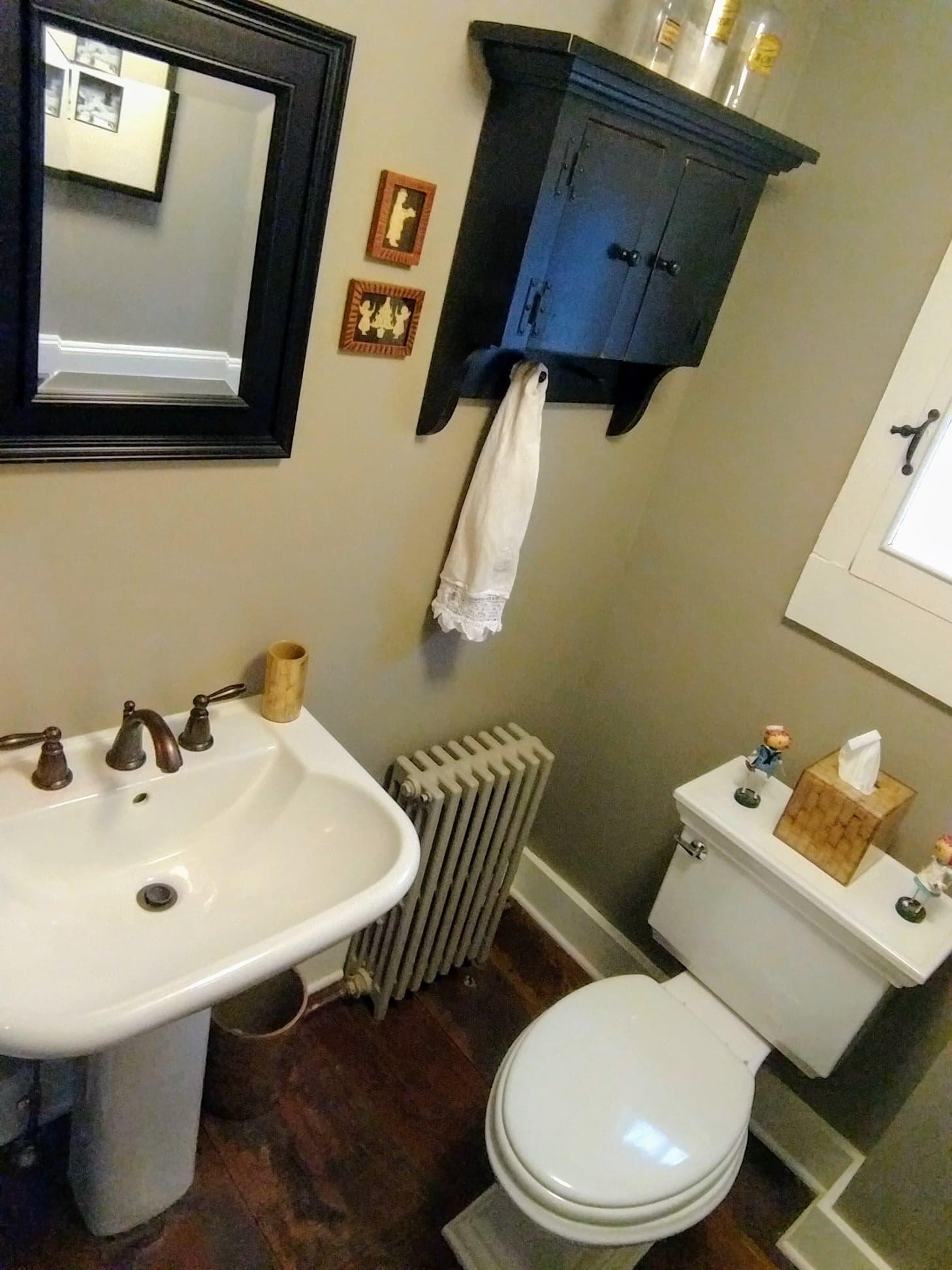 Half Bath - Sink, Cabinet and