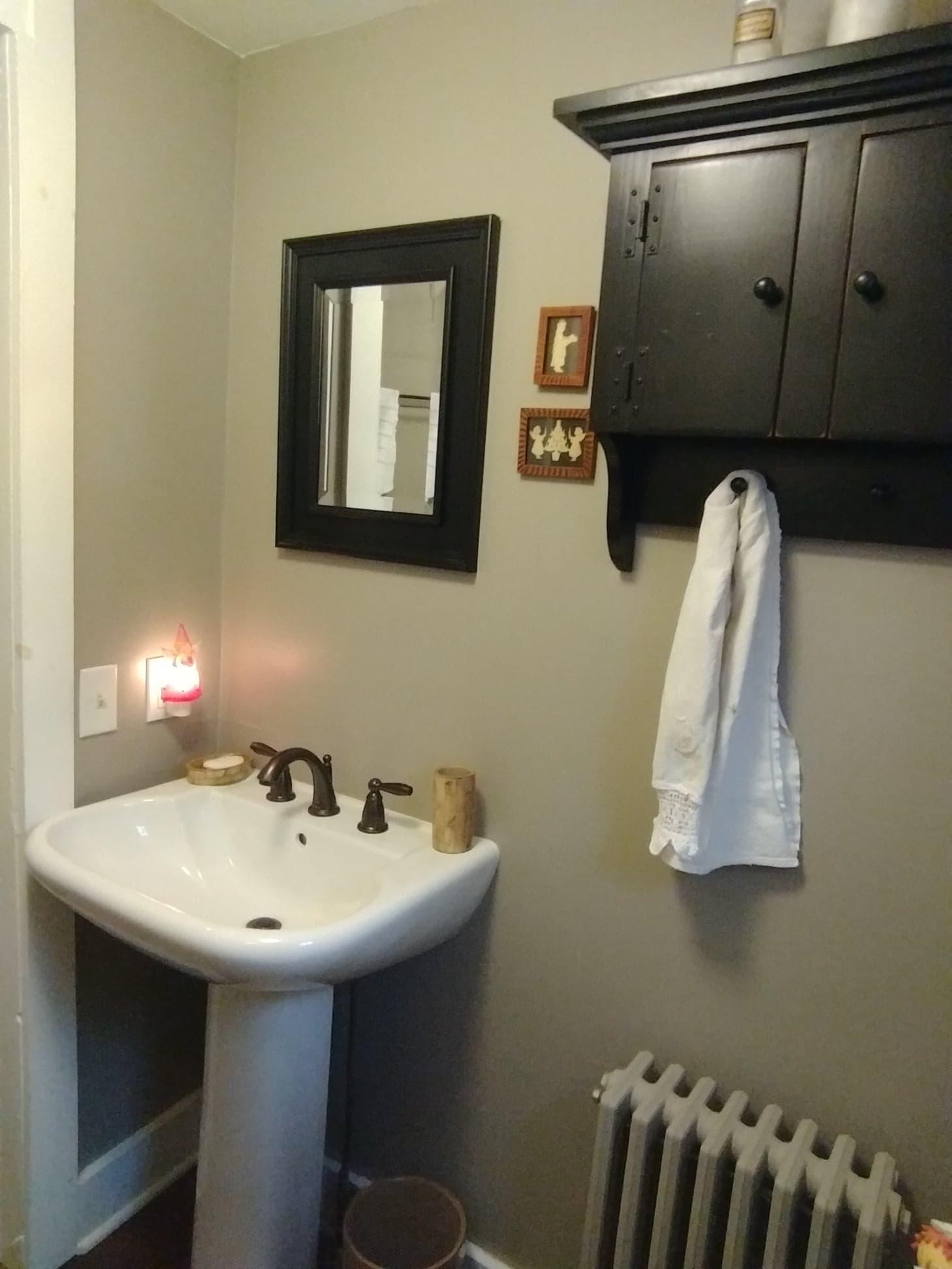 Half Bath - Sink and Cabinet